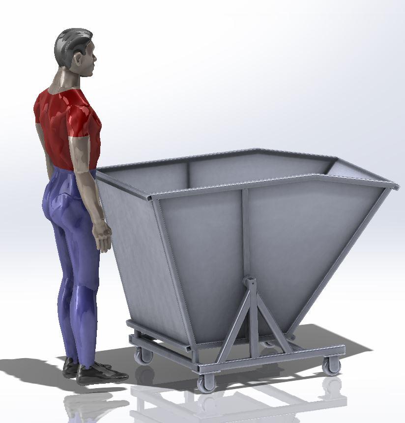 tilting斜口运输斗车3D图纸 Solidworks设计 附STEP x_t