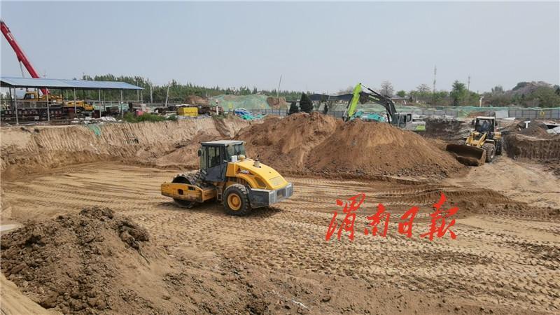 渭南高新区崇业路南延段计划6月底建成