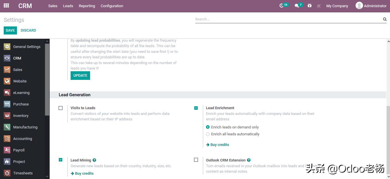 Odoo14免费开源ERP实施指南:CRM功能应用篇(2)