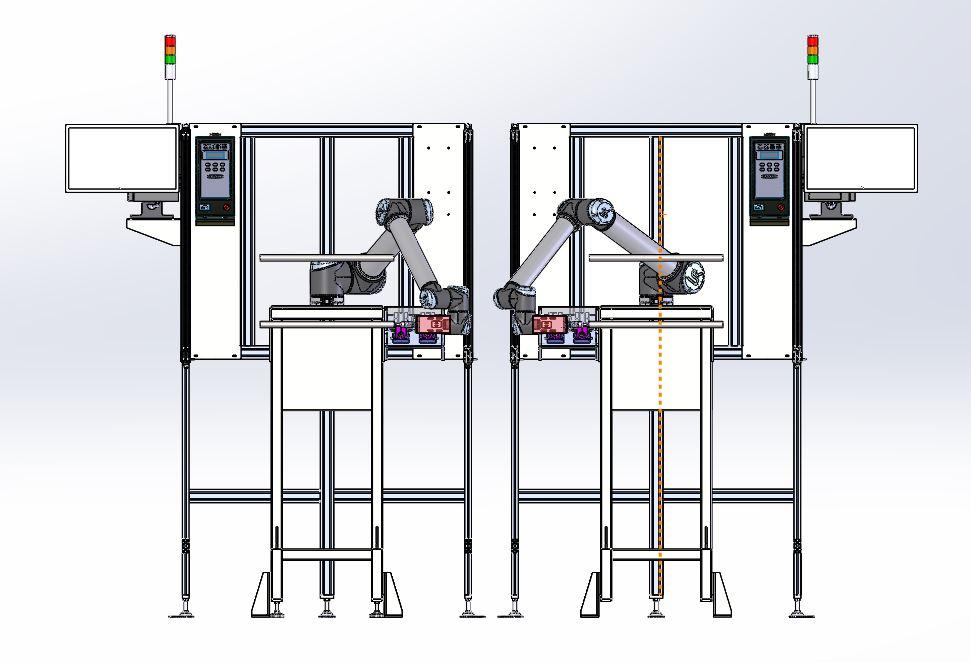 UR10机器人自动螺杆设备3D图纸 STEP格式