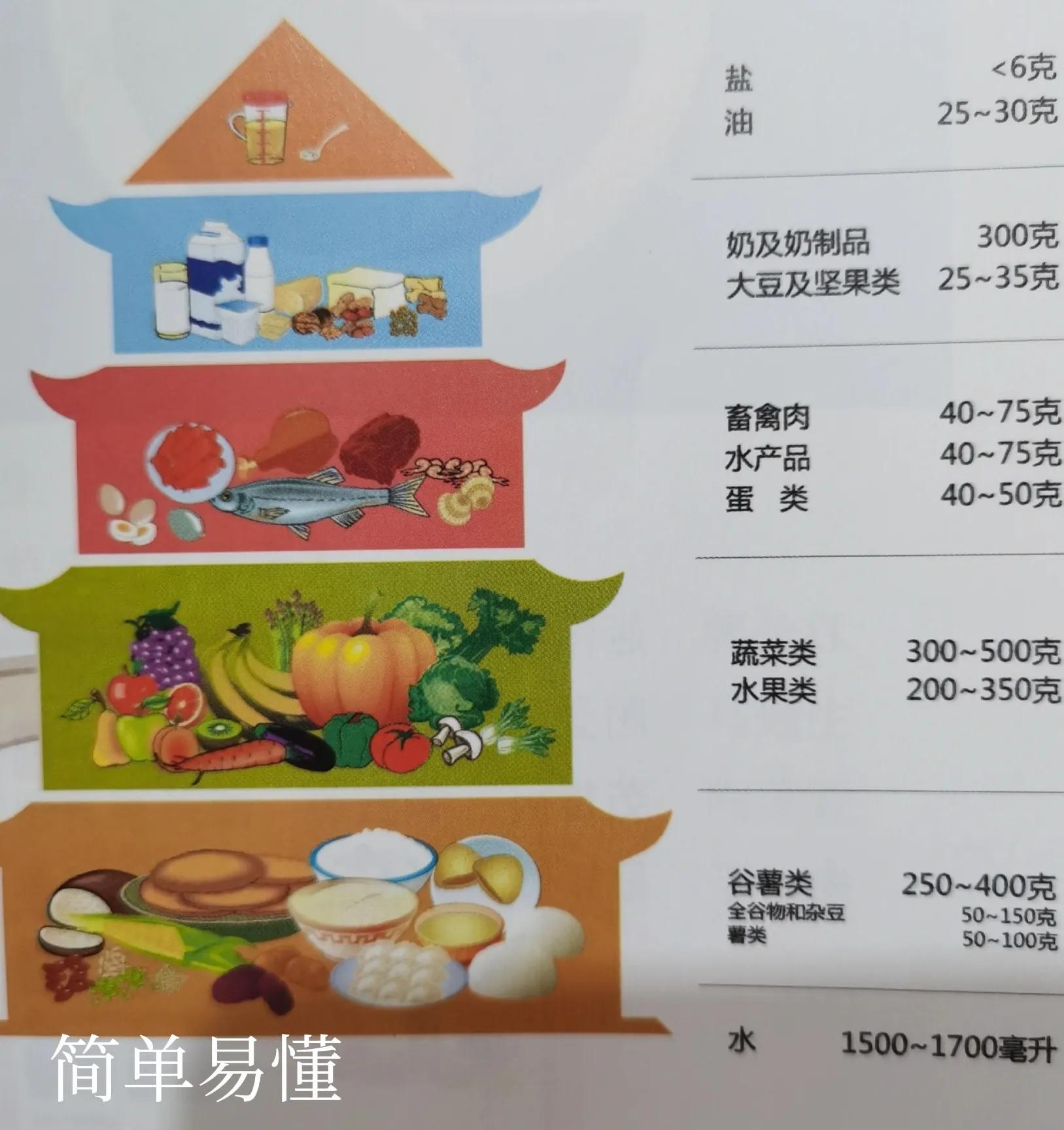 中國居民膳食寶塔(營養師的一日三餐搭配)