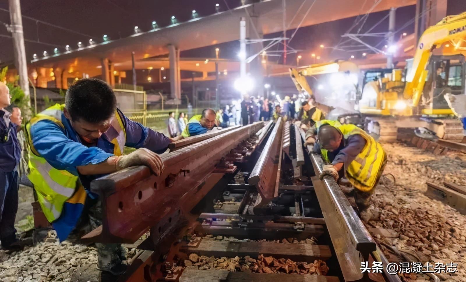 上海地鐵1號線最后一段木枕即將退役,混凝土枕取而代之