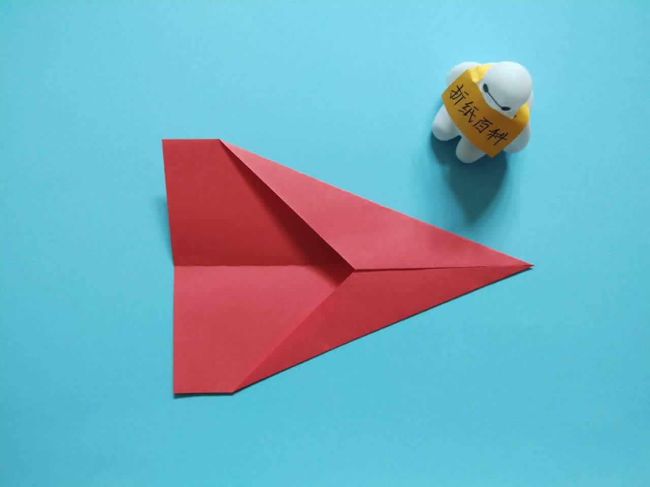 能飞得很远的折纸飞机,简单几步就做好,手工DIY折纸图解教程 家务妙招 第3张