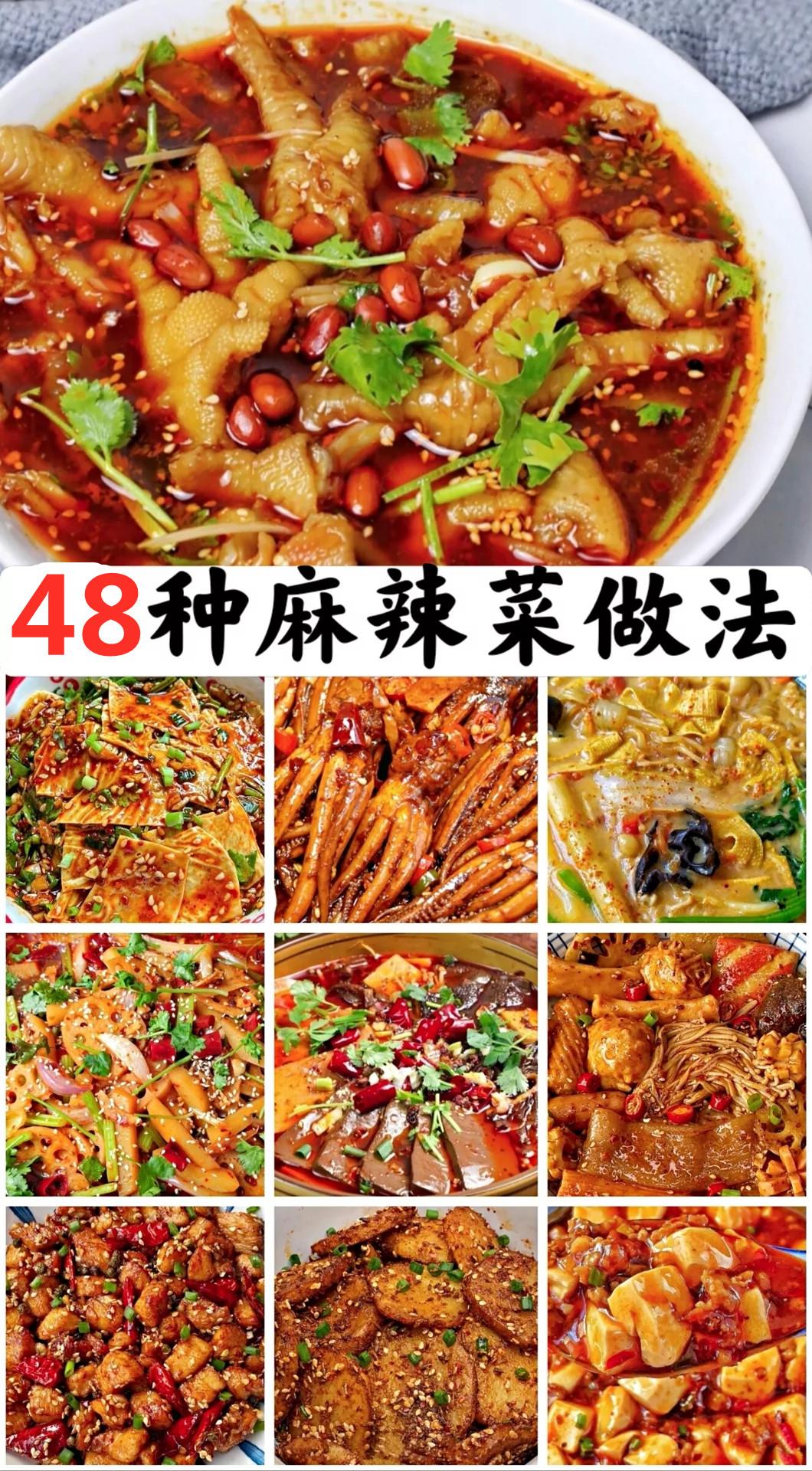麻辣口味菜做法及配料 美食做法 第1张