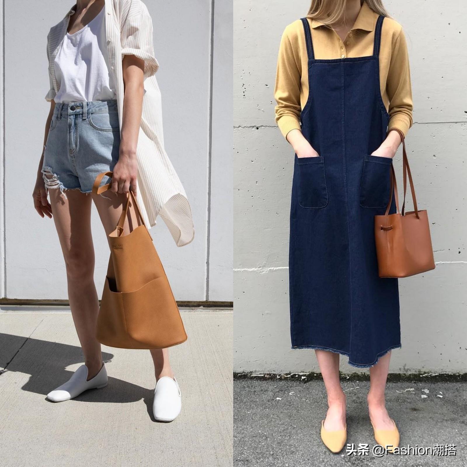 清凉显瘦,利落又时髦上天的搭配,简直就是夏季穿搭的范本