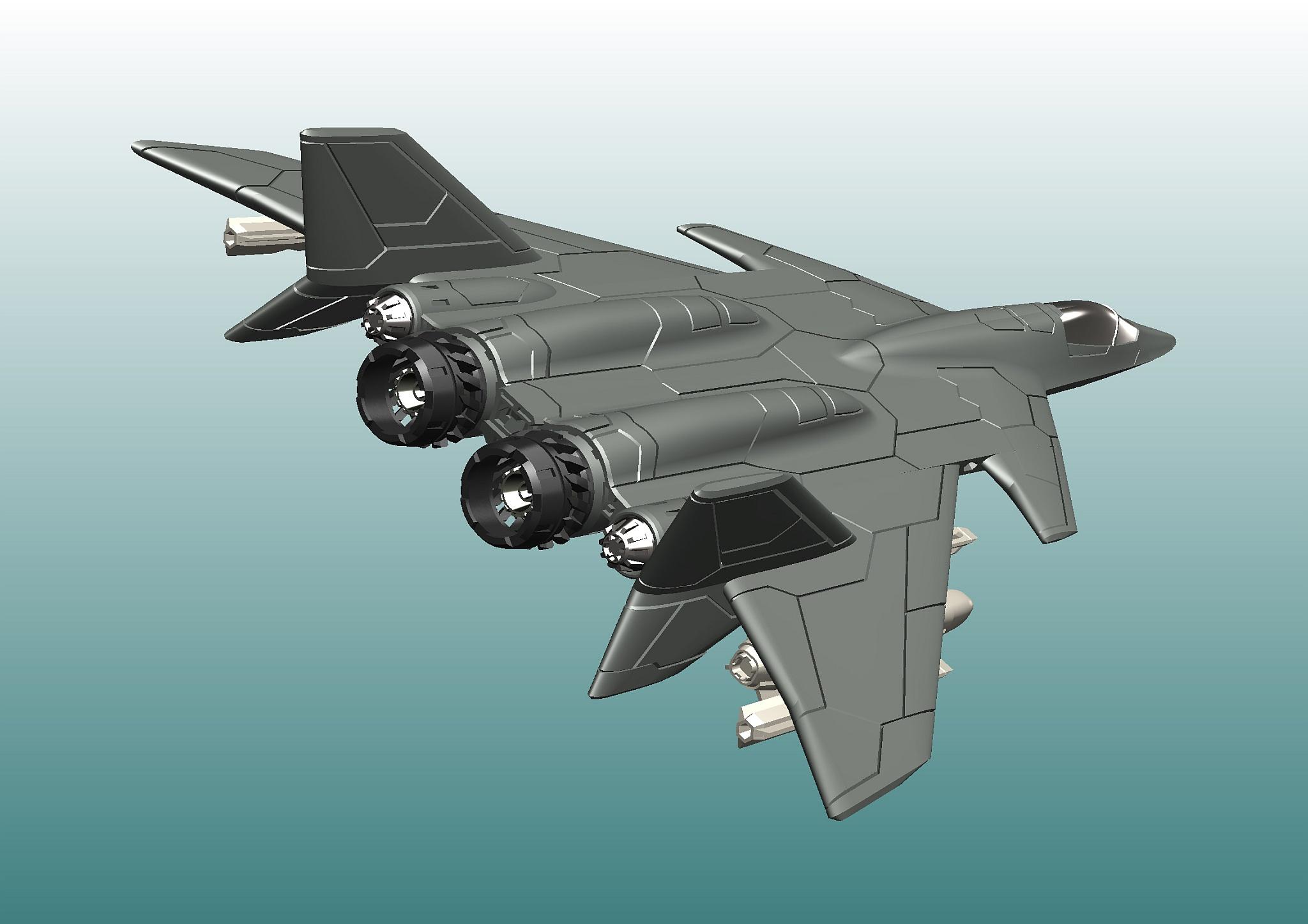 F-95 morningstar wing战斗机造型3D图纸 x_t step格式
