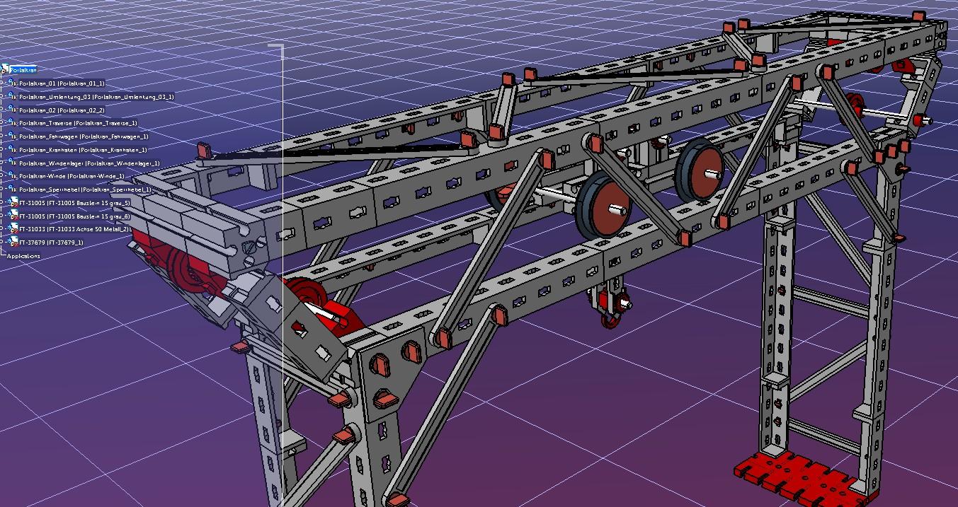 Portal crane门式起重机3D数模图纸 STP格式