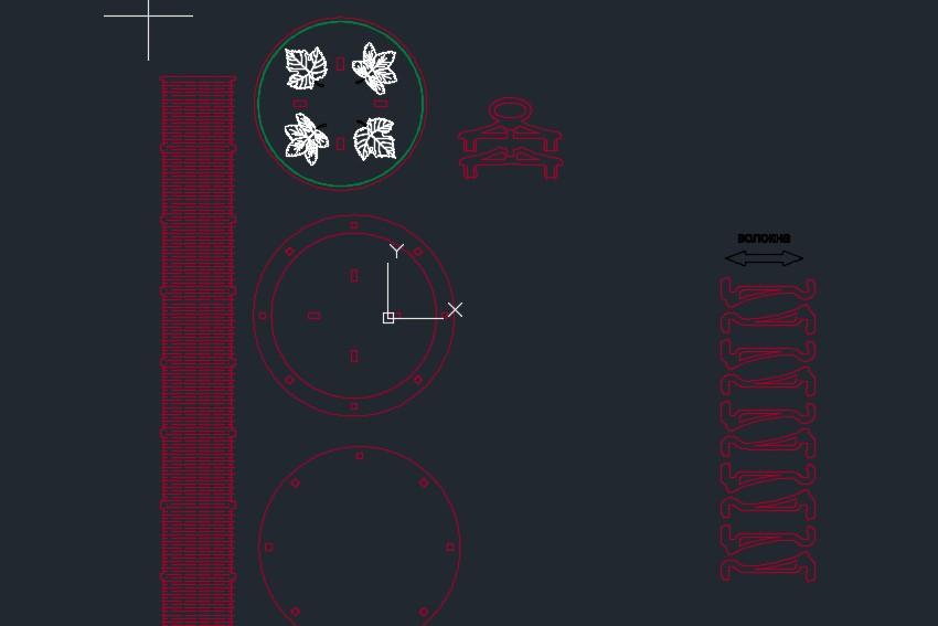 yuvarlak kutu圆柱形储物盒激光雕刻图纸 dxf格式