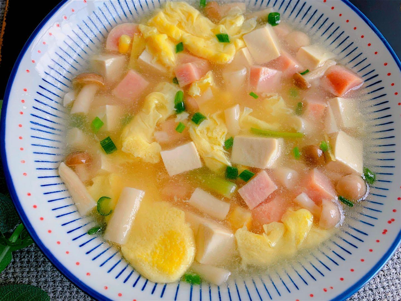 菌菇豆腐蛋花汤做法步骤图 5块钱煮1锅赛过喝骨头汤