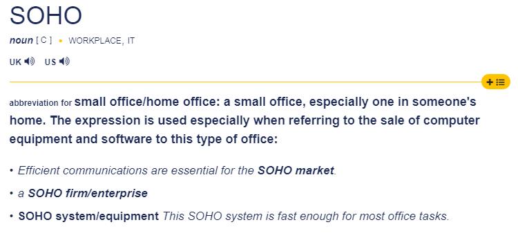 总听说SOHO,可你知道SOHO到底是什么意思吗?
