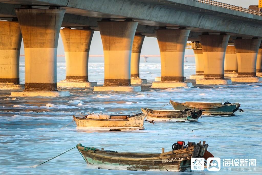 绮丽无比!ope电竞app下载胶州湾大桥现金光穿桥洞景观你见过吗?