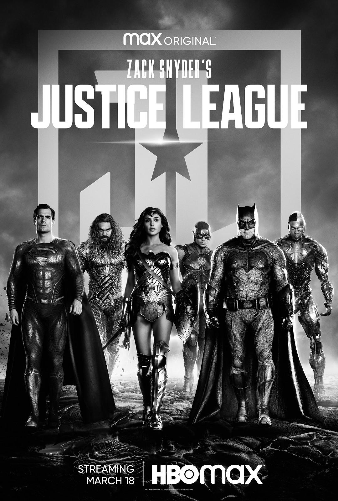 导剪版《正义联盟》新海报释出 全片长4小时1分