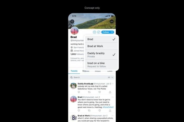 Twitter考虑新特性:在一个账号中实现两个账号的功能