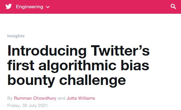推特为图像裁剪算法纠偏发起赏金项目
