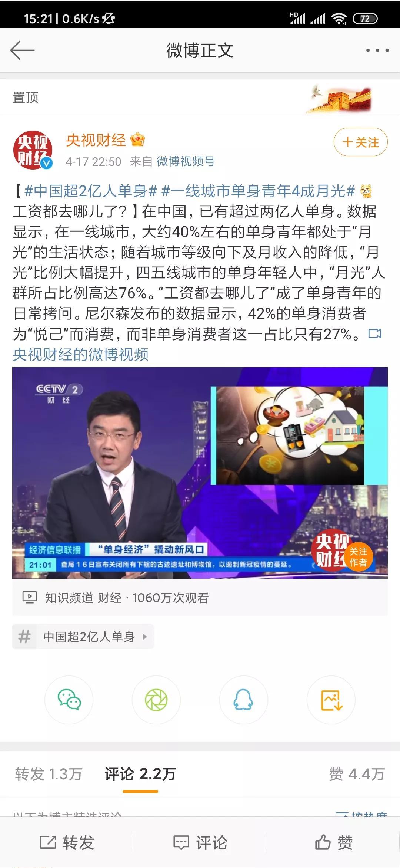 """年轻人""""月光族""""工资哪里去了,中国超过两亿人单身?"""