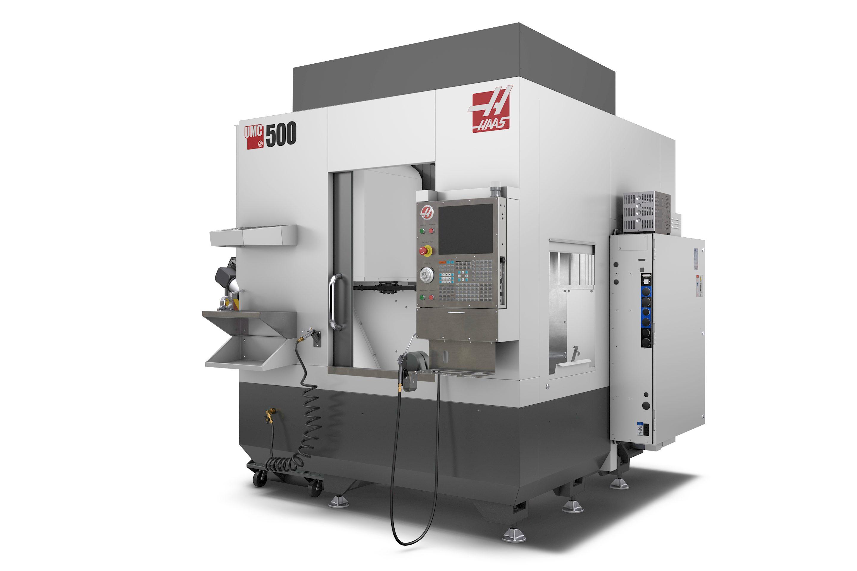 Haas UMC-500 5轴CNC数控铣床简易模型3D图纸 x_t step格式