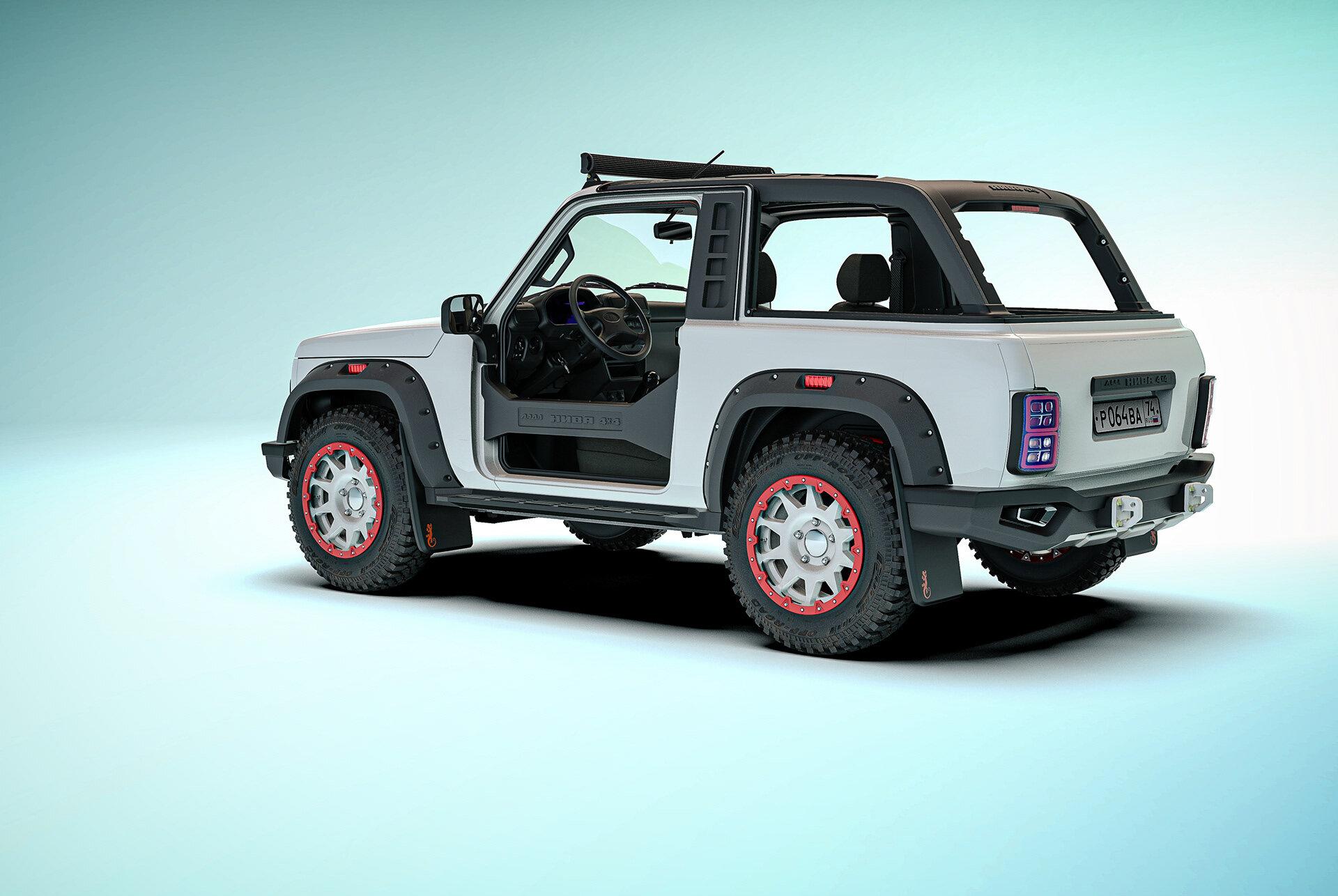 经典Niva沙滩版SUV,因缺少资金流产,成本10.3万元