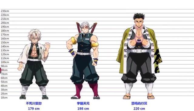 鬼滅角色身高:祢豆子身高153低於平均水平,他的身高接近姚明