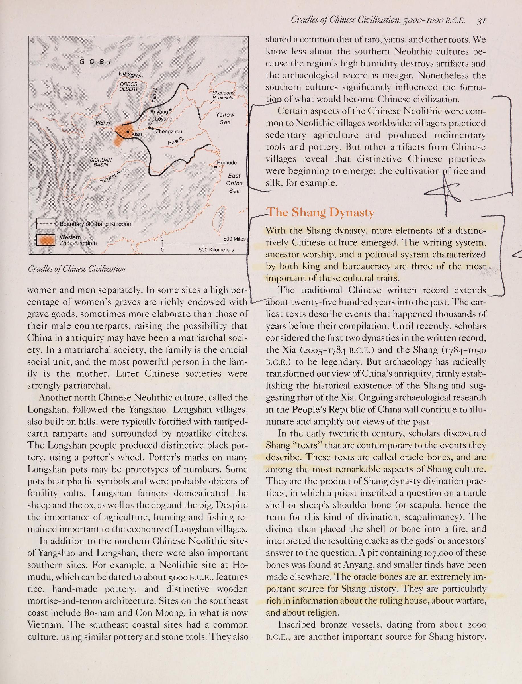 西方人不承认夏朝的存在吗?来看看美国的教科书是怎么说的