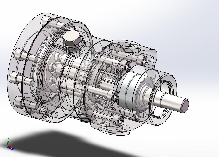 TXXH轴向柱塞泵模型3D图纸 Solidworks设计