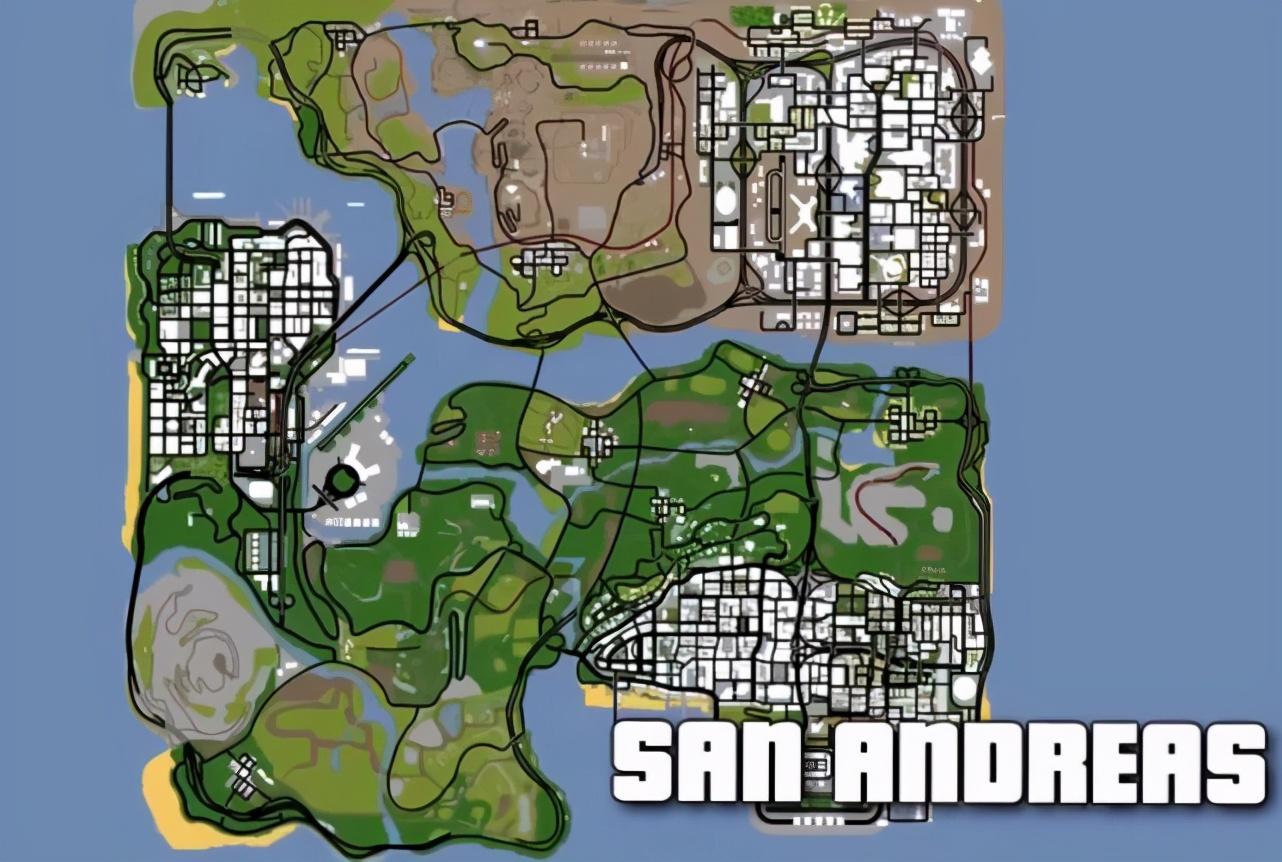 《GTA》地图演变史,全部加起来都没《GTA5》大?真无敌
