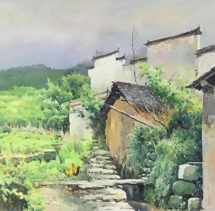 建党百年 初心不变——杨特文先生-油画作品欣赏