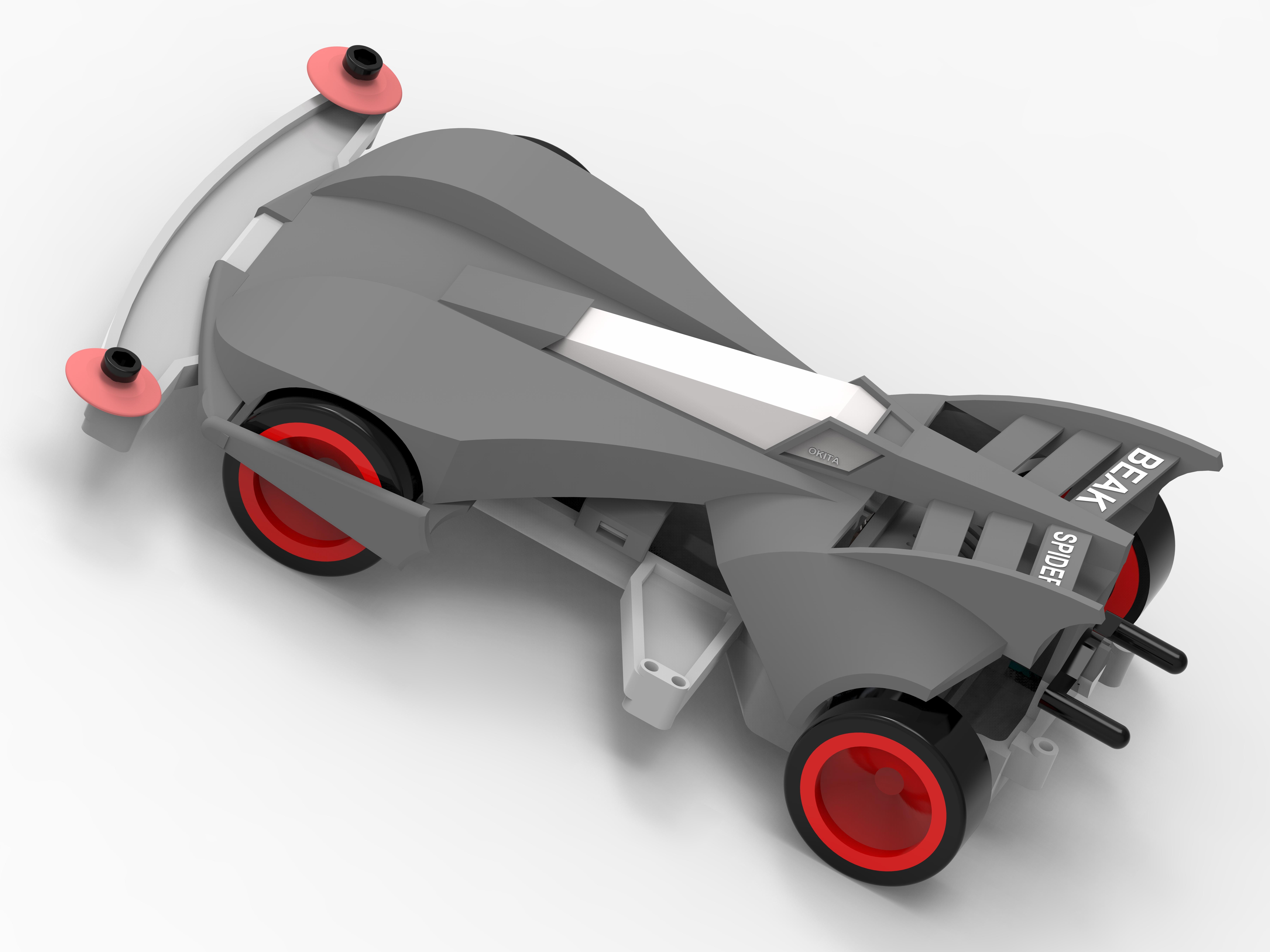 Beak Spider Tamiya Car蜘蛛王四驱车3D图纸 SOLIDEDGE设计 附STP