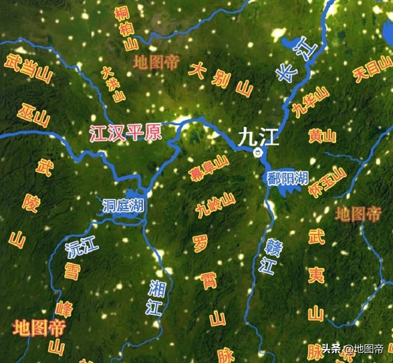 江西九江为什么叫九江,而不叫七江或八江?