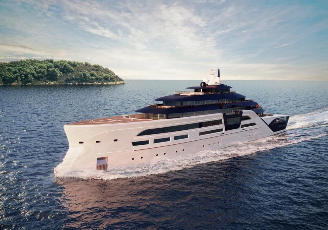 95米长的Ultra2超级游艇,设计透露着未来超级游艇趋势