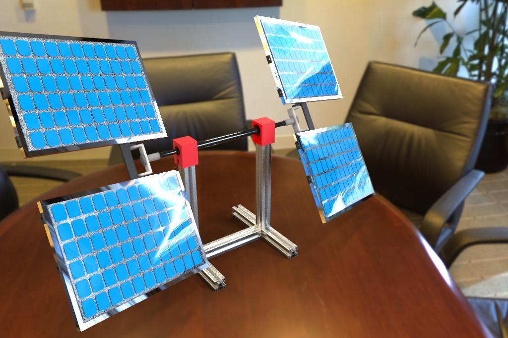 SOLAR TRACKER太阳能板支架模型3D图纸 STP格式