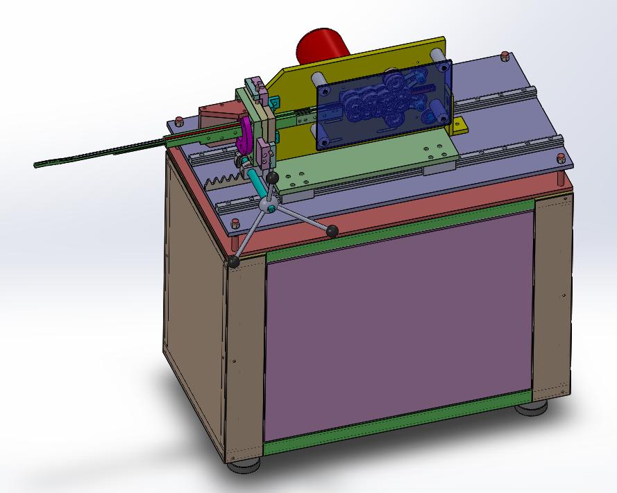 小零件射片机3D数模图纸 Solidworks设计