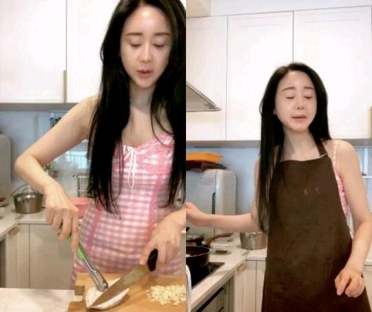 咸素媛突然直播纯欲上班风,46岁和丈夫拼二胎,和婆婆吃螺狮粉