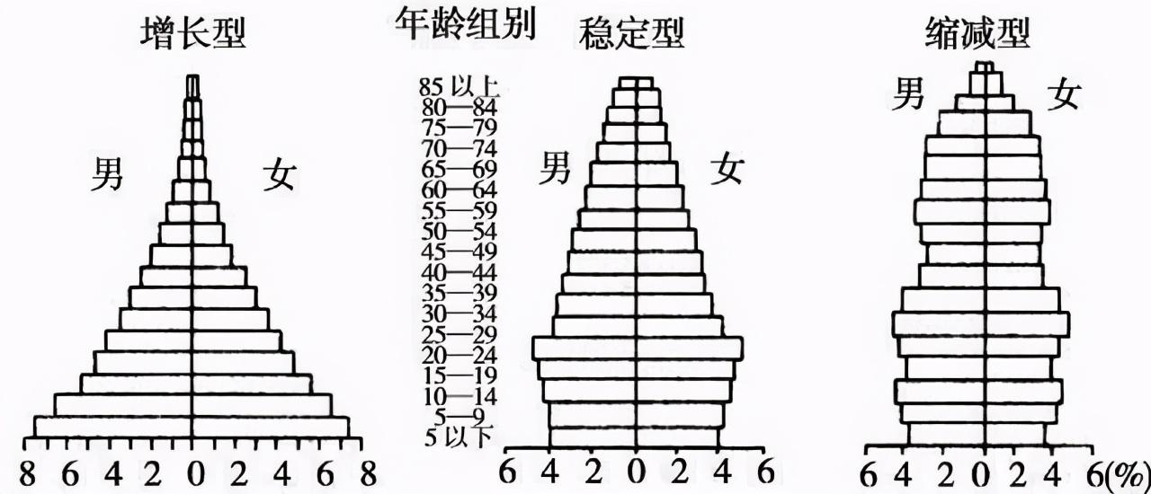 高中地理――每日讲1题(人口年龄金字塔、老龄化)