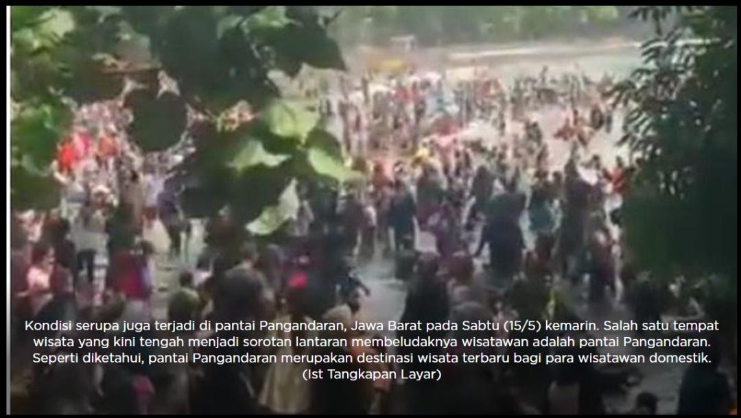 印尼多地海滩人潮汹涌