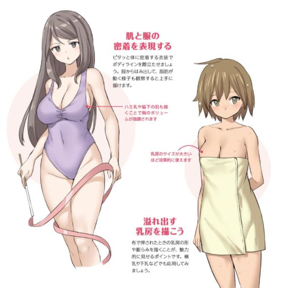 如何画出女性肉感?有点H的女性肉感画法教学